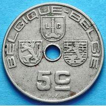 Бельгия 5 сантим 1938 год. 'BELGIQUE - BELGIE'.