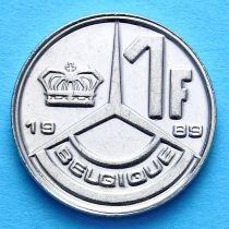 Бельгия 1 франк 1989-1991 год. Французский вариант.