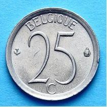 Бельгия 25 сантимов 1964-1975 год. Французский вариант