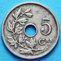Бельгия 5 сантим 1904-1907 год. Французский вариант