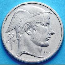 Бельгия 50 франков 1951 год. Французский вариант. Серебро