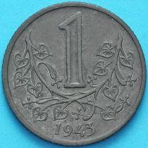 Чехия, Богемия и Моравия 1 крона 1943 год.