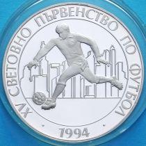 Болгария 100 левов 1993 год. ЧМ по футболу. Серебро.