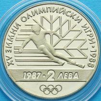 Болгария 2 лева 1987 год. Олимпийские игры в Калгари.
