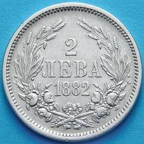 Болгария 2 лева 1882 год. Серебро.