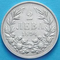 Болгария 2 лева 1894 год. Серебро.