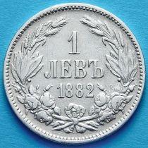 Болгария 1 лев 1882 год. Серебро.
