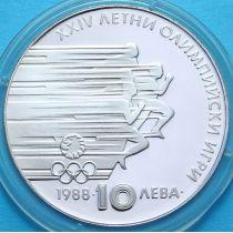 Болгария 10 левов 1988 год. Олимпиада. Серебро.