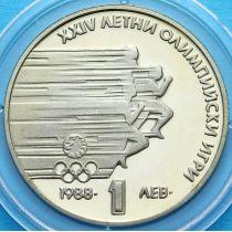 Болгария 1 лев 1988 год. Олимпийские игры в Сеуле.
