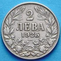 Болгария 2 лева 1925 год. Монетный двор Пуасси.