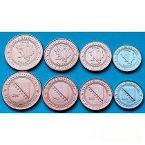 Босния и Герцеговина набор 4 монеты 2007-2013 год.