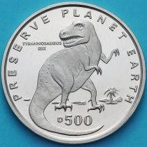 Босния и Герцеговина 500 динар 1993 год. Тираннозавр рекс.