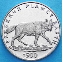 Босния и Герцеговина 500 динар 1994 год. Волк