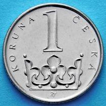 Чехия 1 крона 2010-2017 год.