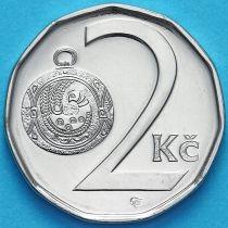 Чехия 2 кроны 2015 год.