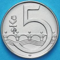Чехия 5 крон 2016-2017 год.