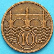 Чехословакия 10 геллеров 1923-1938 год.