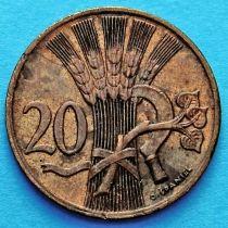 Чехословакия 20 геллеров 1947-1950 год.
