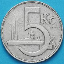 Чехословакия 5 крон 1925 год.