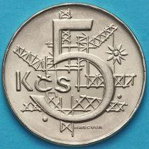 Чехословакия 5 крон 1991 год.