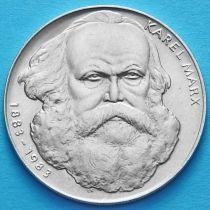 Чехословакия 100 крон 1983 год. Карл Маркс. Серебро