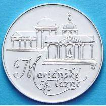 Чехословакия 50 крон 1991 год. Мариианские Лазни. Серебро