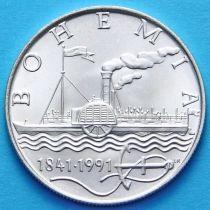 Чехословакия 50 крон 1991 год. Богемия. Серебро