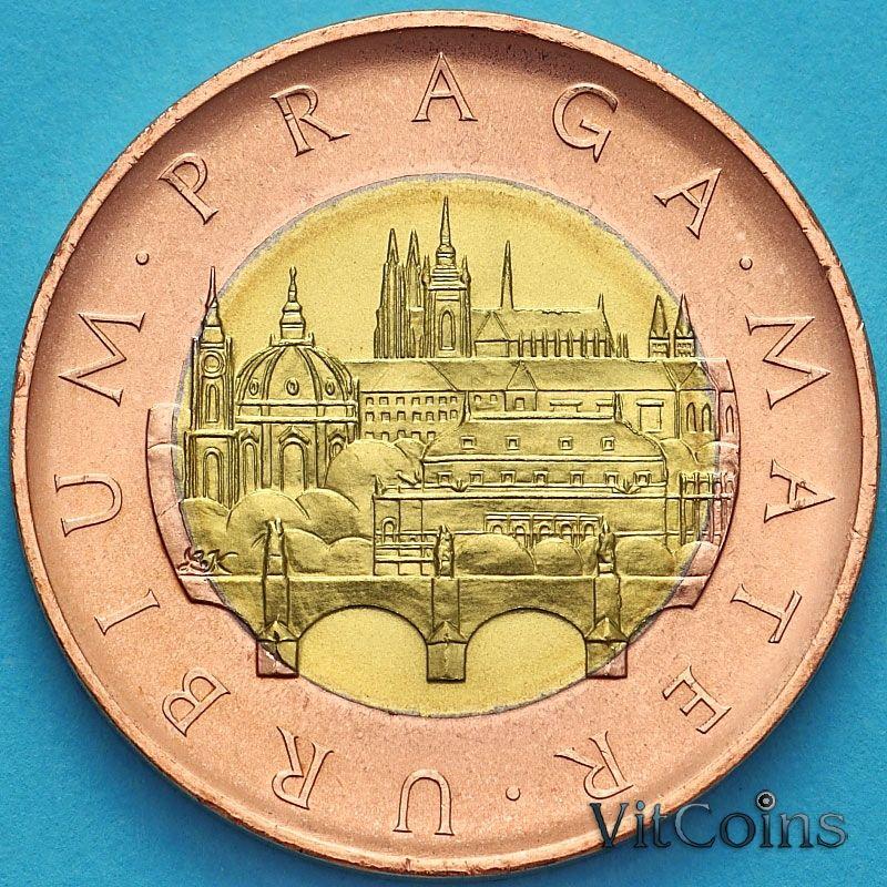 Монета Чехия 50 крон 2017 год. Прага.