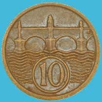 Чехословакия 10 геллеров 1922 год.