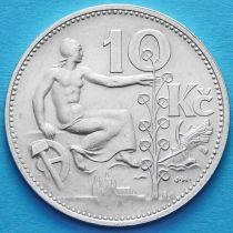 Чехословакия 10 крон 1931 год. Серебро.