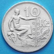 Чехословакия 10 крон 1932 год. Серебро.