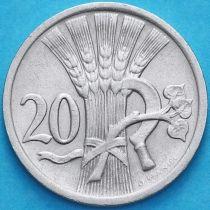 Чехословакия 20 геллеров 1927 год.