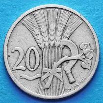 Чехословакия 20 геллеров 1921 год.