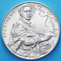 Чехословакия 100 крон 1990 год. Ян Купецки. Серебро.