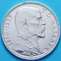 Чехословакия 20 крон 1937 год. Смерть президента Масарика, серебро