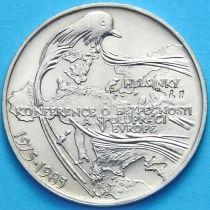Чехословакия 100 крон 1985 г. Конференция в Хельсинки. Серебро.