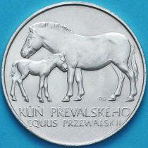 Чехословакия 50 крон 1987 год. Лошадь Пржевальского. Серебро.