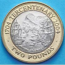 Гибралтар 2 фунта 2004 год. 300 лет захвату Гибралтара.