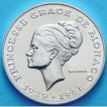Монако 10 франков 1982 год. Грейс Келли. Серебро