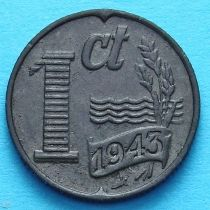 Нидерланды 1 цент 1942-1944 год.