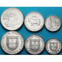 Португалия набор 3 монеты 1983 год. ФАО