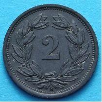 Швейцария 2 раппена 1942-1945 год.