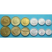 Словения набор 6 монет 1992-2001 год.