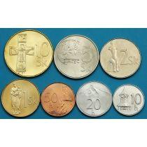 Словакия набор 7 монет 1993-2007 год.