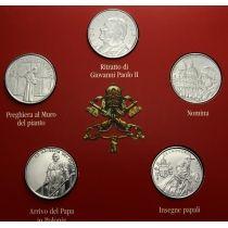 Мальтийский орден набор 5 монет по 1 лире 2005 год.
