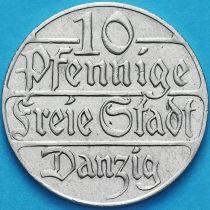 Данциг 10 пфеннигов 1923 год. №1