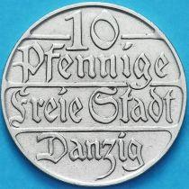 Данциг 10 пфеннигов 1923 год. №2