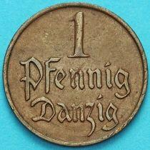 Данциг 1 пфенниг 1923 год. №1
