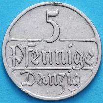Данциг 5 пфеннигов 1928 год.
