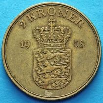 Дания 2 кроны 1948-1958 год. Фредерик IX